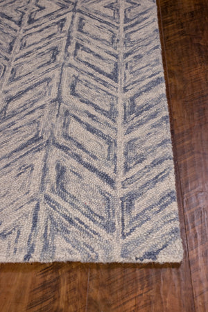 Kas Rugs Gramercy 1611 Blue Heather Herringbone Area Rug