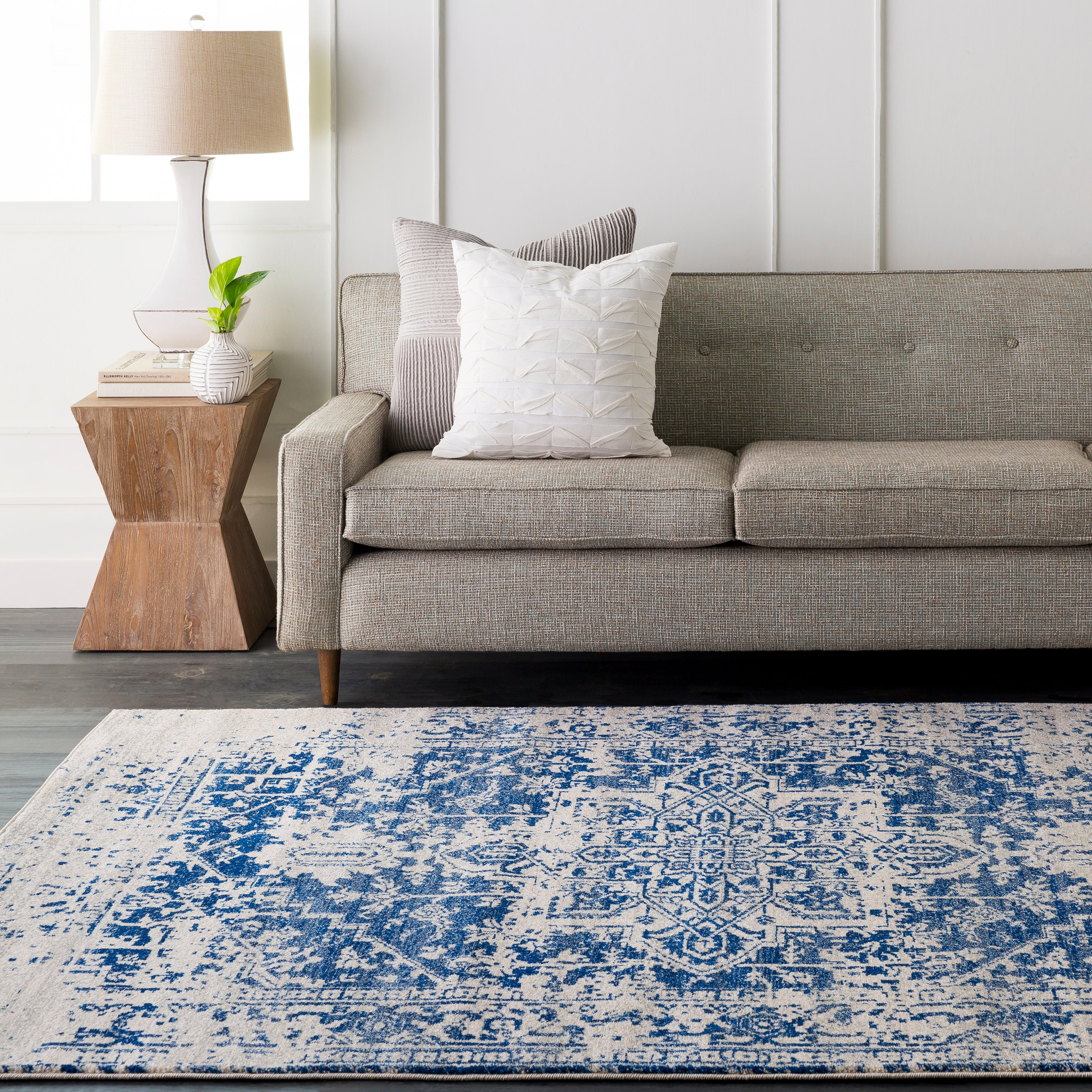 Surya Harput HAP1021 Neutral/Blue Area Rug