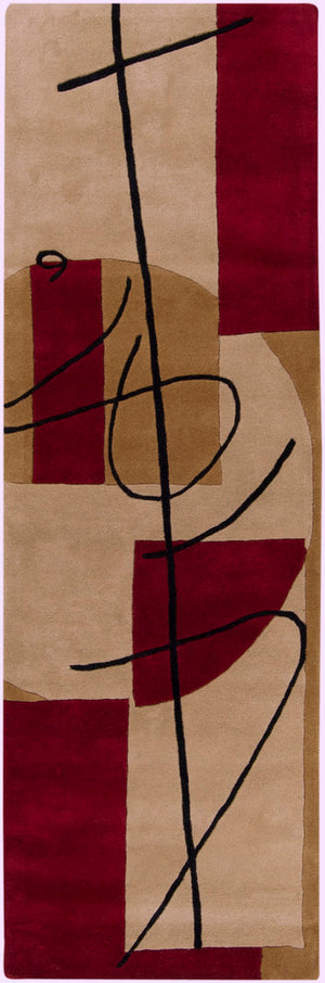 Surya History HST3005 Brown/Red Contemporary Area Rug