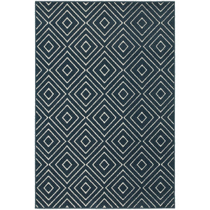 Oriental Weavers Hampton Navy/Ivory Geometric 2332B Area Rug