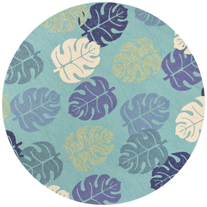 Kas Rugs Harbor 4228 Turquoise Palms Area Rug