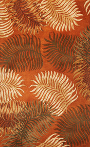 Kas Rugs Havana 2623 Rust Fern View Area Rug
