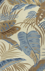 Kas Rugs Havana 2624 Ivory/Blue Rainforest Area Rug