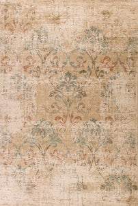 Kas Rugs Heritage 9351 Champagne Damask Area Rug