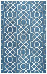Rizzy Home Idyllic ID883A Dark Blue Geometric Area Rug