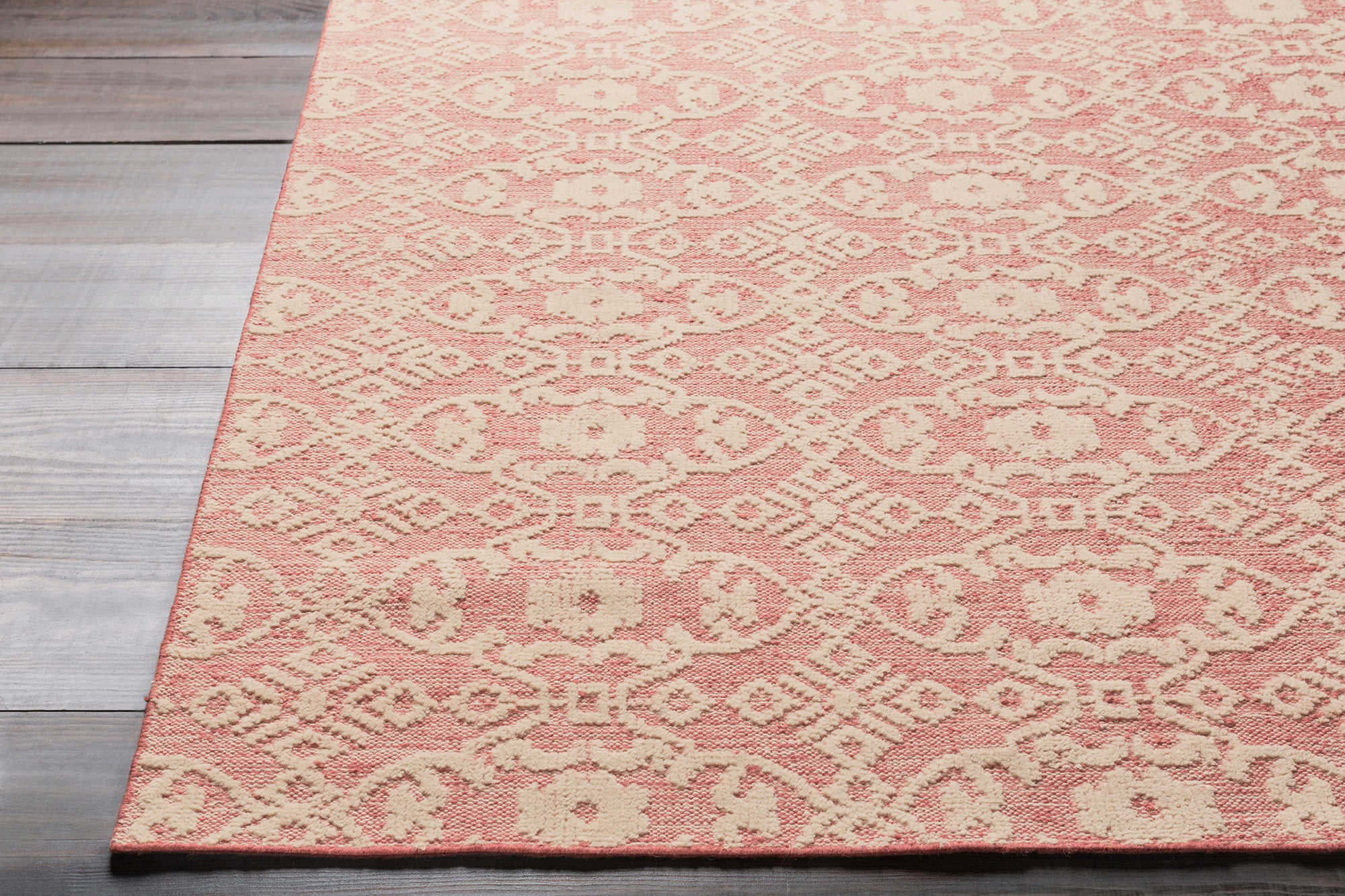 Surya Ithaca ITH5003 Pink/Neutral Classic Area Rug