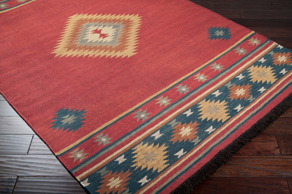 Surya Jewel Tone JT1033 Red/Blue Southwest Area Rug