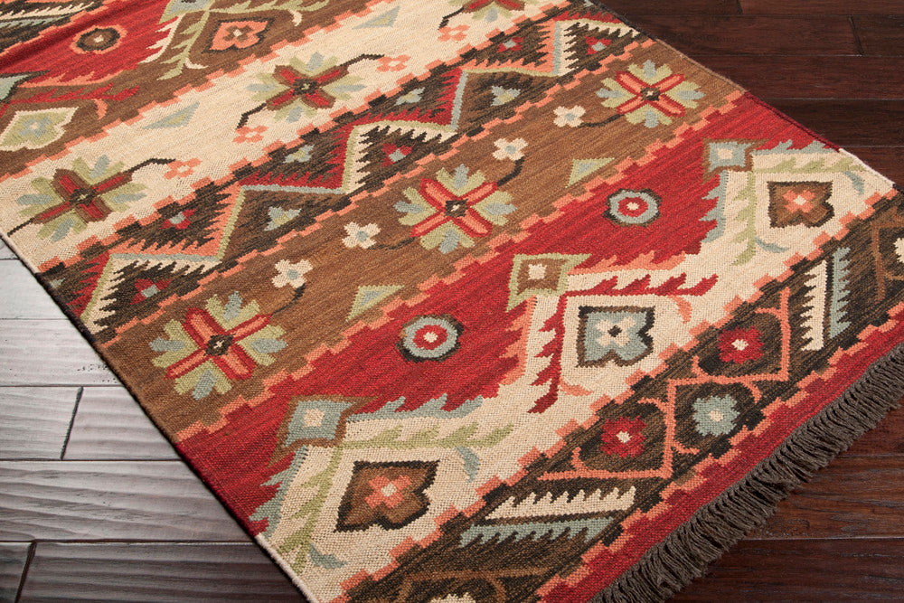 Surya Jewel Tone JT8 Neutral/Red Southwest Area Rug