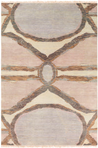 Surya Libra One LBO1003 Neutral/Red Modern Area Rug
