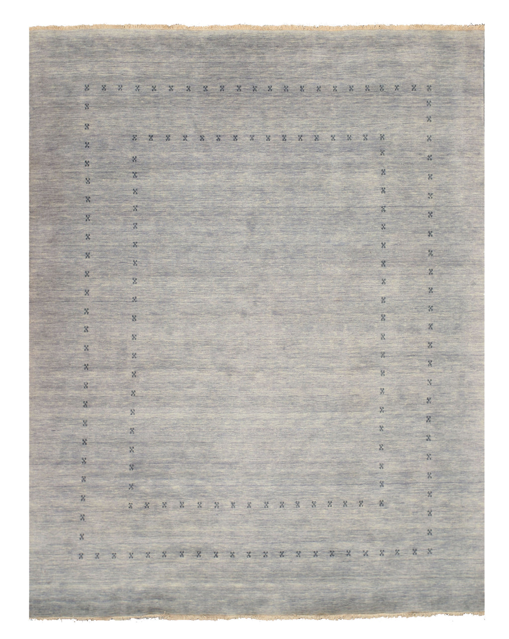 EORC Handmade Wool Gray Traditional Solid Lori Baft Rug