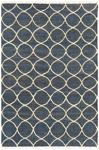 Surya Laural LRL6003 Neutral/Blue Natural Fiber and Texture Area Rug