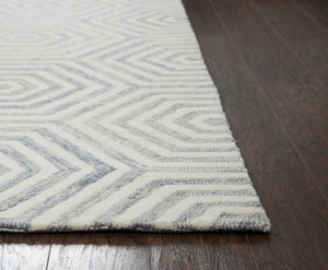 Rizzy Home Lancaster LS476A Light Gray Geometric Area Rug