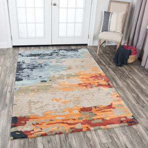 Rizzy Home Mod MO999A Tan Abstrack Area Rug