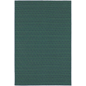 Oriental Weavers Meridian Navy/Green Geometric 1634Q Area Rug