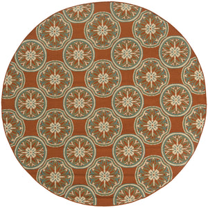 Oriental Weavers Montego Orange/Ivory Floral 8323D Area Rug