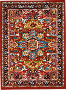 Nourison Oakdale Red Area Rug