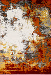 Surya Pepin PEI1013 Grey/Orange Area Rug