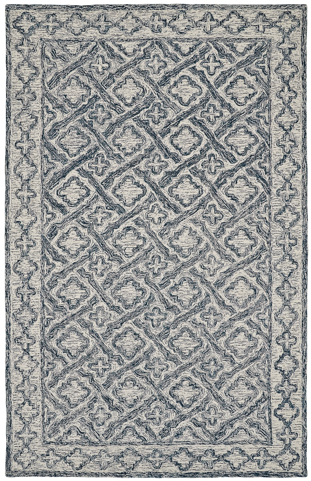 Dynamic Rugs Polar Ivory/Navy Classic Rectangle Area Rug