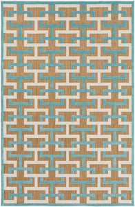 Surya Portera PRT1061 Blue/Grey Geometric Area Rug