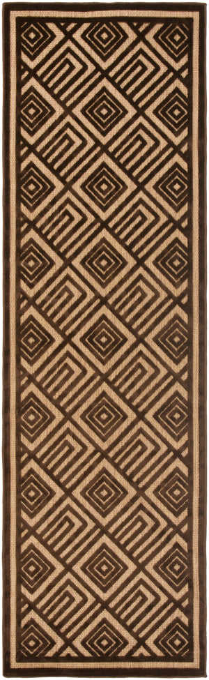 Surya Portera PRT1071 Brown Geometric Area Rug