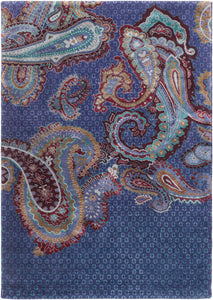 Surya PaisGeo PSG1000 Blue/Red Floral and Paisley Area Rug