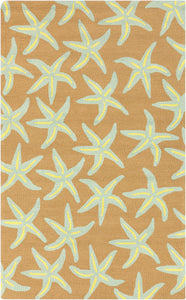 Surya Rain RAI1134 Blue/Brown Aquatic Area Rug
