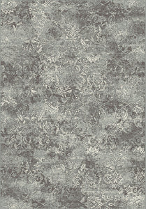 Dynamic Rugs Regal Grey/Silver Distressed Rectangle Area Rug