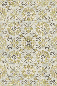 Dynamic Rugs Royal Treasure Amber/Mocha Medallion/Damask Rectangle Area Rug