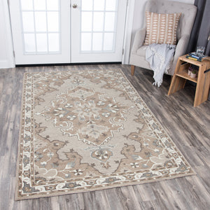 Rizzy Home Resonant RS931A Tan Central Medallion Area Rug