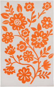 Surya Skidaddle SDD4006 Orange/Neutral Floral and Paisley Area Rug