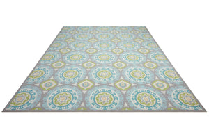 Waverly Sun & Shade Solar Flair Jade Indoor/Outdoor Area Rug by Nourison