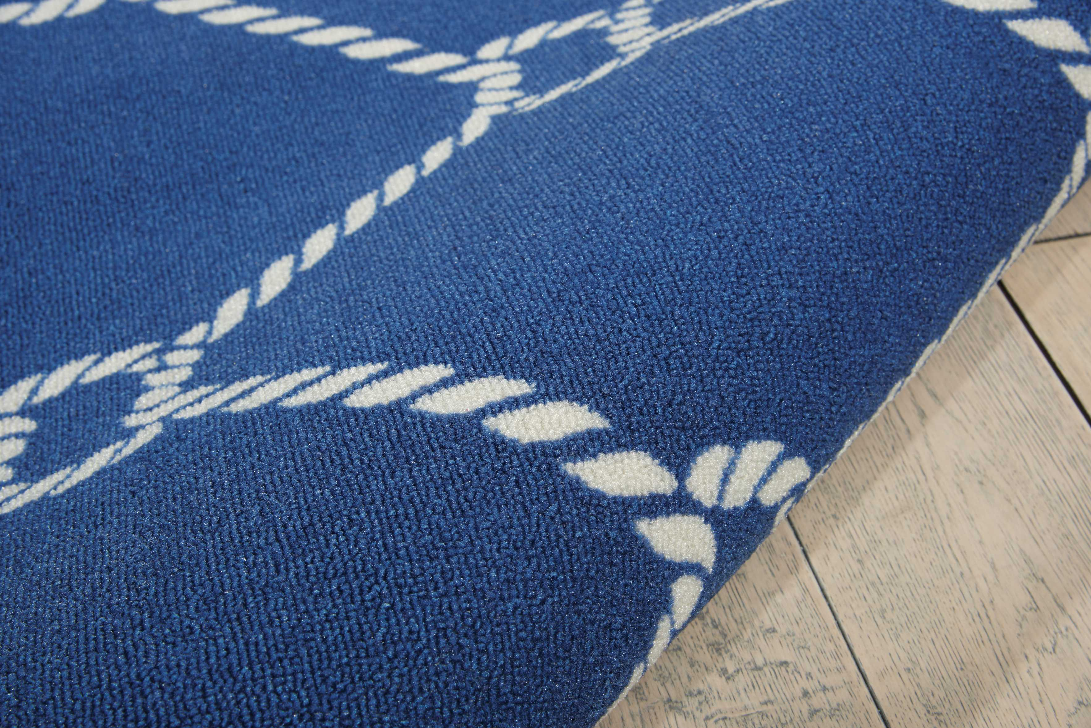 Waverly Sun & Shade Rope Navy Indoor/Outdoor Area Rug by Nourison