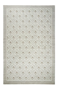 Dynamic Rugs Studio Ivory-Cream Geometric Rectangle Area Rug