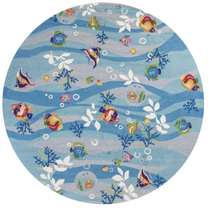 Kas Rugs Sonesta 2011 Blue Tropical Fish Area Rug