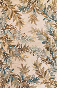 Kas Rugs Sparta 3126 Ivory Tropical Branches Area Rug