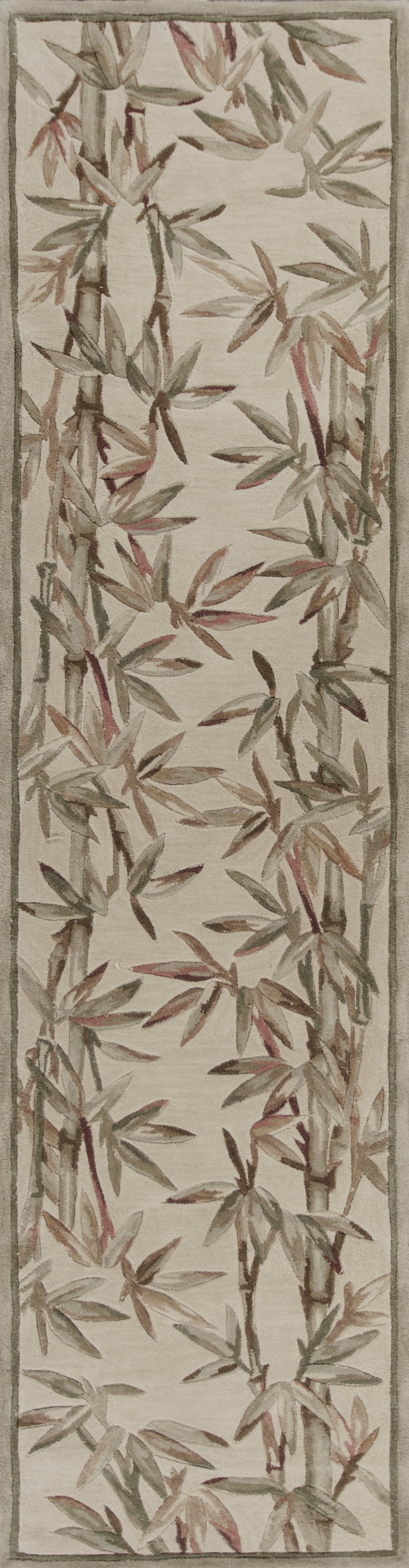 Kas Rugs Sparta 3146 Ivory Bamboo Border Area Rug