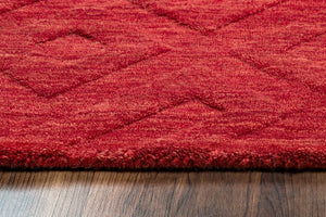 Rizzy Home Technique TC8289 Red Solid Area Rug
