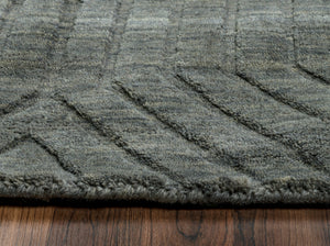 Rizzy Home Technique TC8574 Gray/Charcoal Solid Area Rug