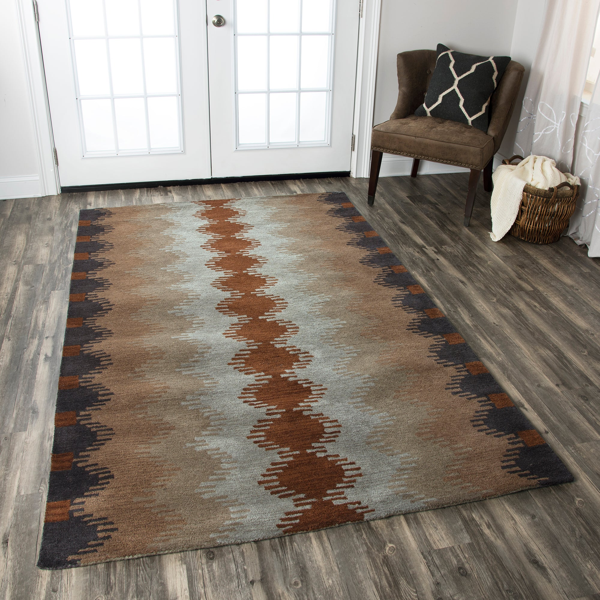 Rizzy Home Tumble Weed Loft TL9250 Multi-Colored Southwest/Tribal Area Rug