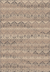 Dynamic Rugs Treasure Beige Medallion/Damask Rectangle Area Rug