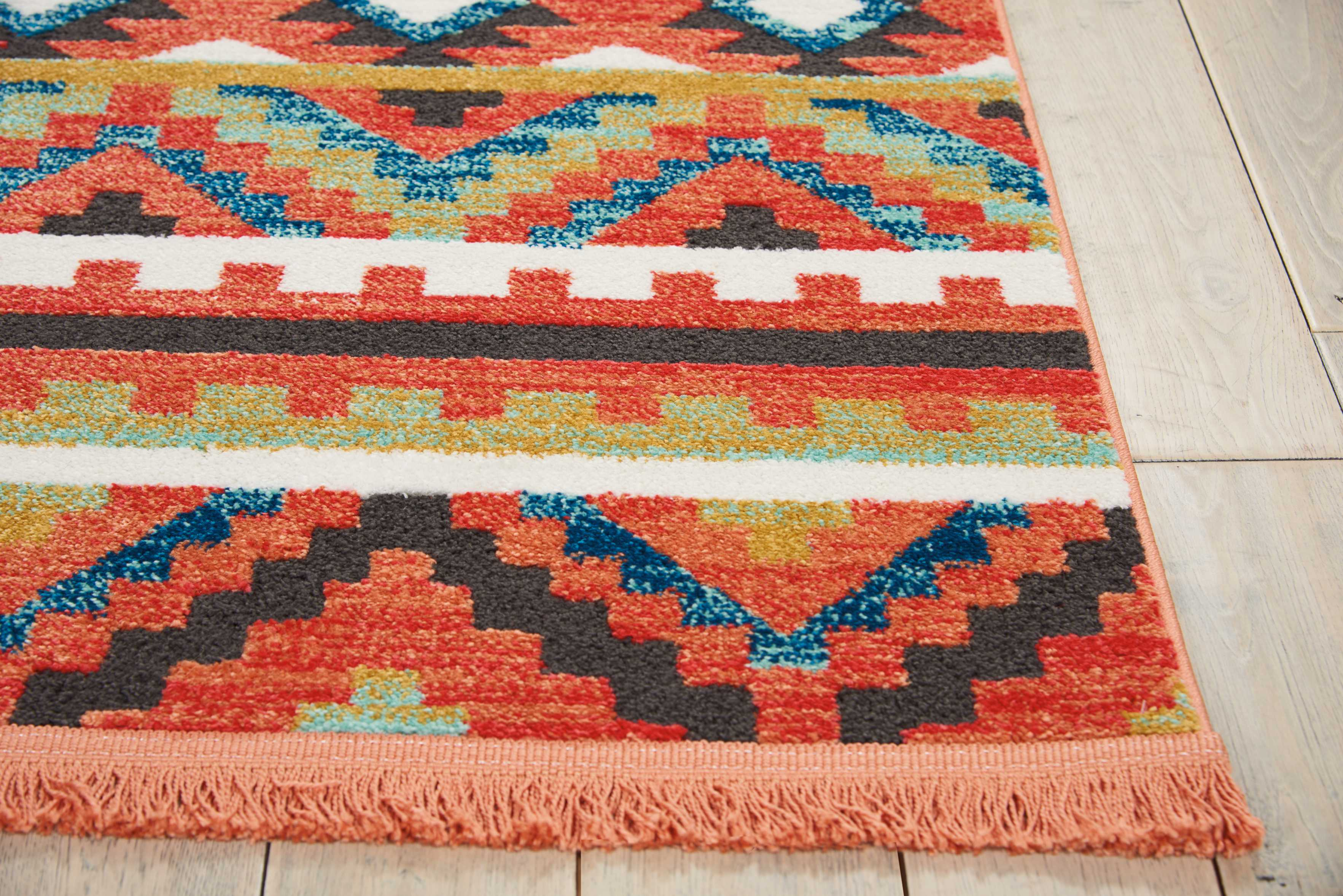Nourison Tribal Decor Orange Area Rug