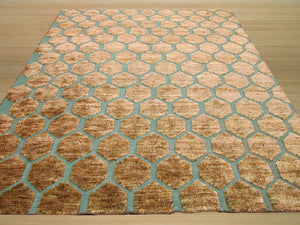 EORC Hand-knotted Jute Brown Transitional Jute Erika Rug