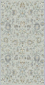Dynamic Rugs Venice Light Grey Distressed Rectangle Area Rug