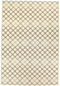 Dynamic Rugs Veranda Cream Geometric Rectangle Area Rug