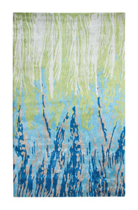 Dynamic Rugs Vogue Blue/Green Modern Rectangle Area Rug