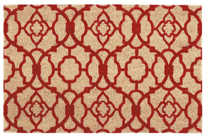 Waverly Greetings Lovely Lattice Red Doormat by Nourison