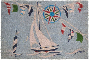 Waverly Greetings Sailing Blue Doormat by Nourison