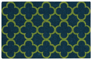 Waverly Greetings Framework Teal Doormat by Nourison