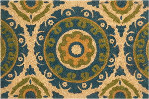 Waverly Greetings Solar Flair Blue Green Doormat by Nourison