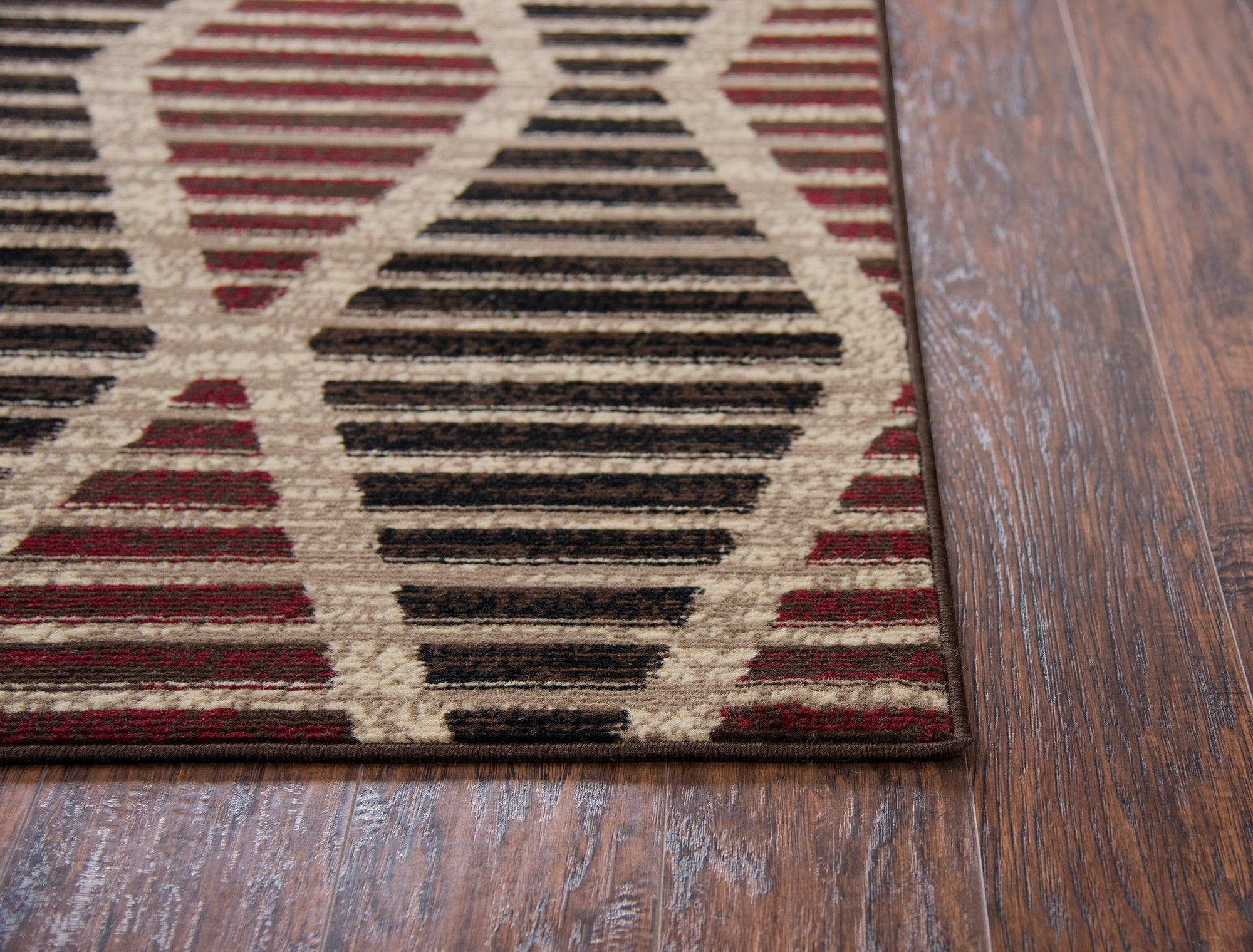 Rizzy Home Xcite XI6917 Beige Lined Dimonds Area Rug